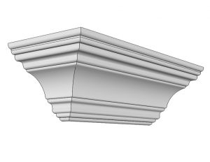 Crown symmetical moulding
